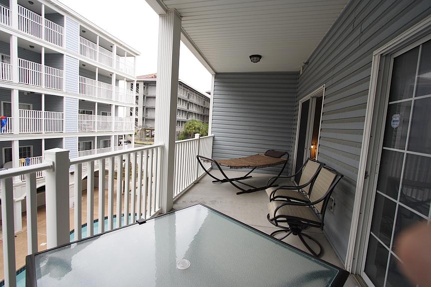 Myrtle beach villas ii sky blue condo information and for Balcony hammock